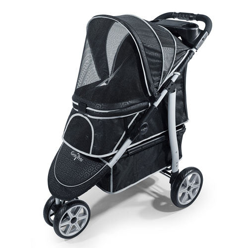 Gen7Pets Platinum Smart Monaco Pet Dog Stroller Black Geometric