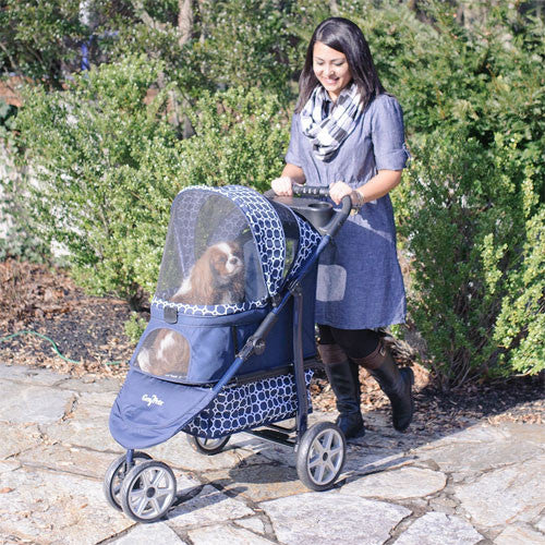 Gen7Pets Platinum Smart Monaco Pet Dog Stroller Dress Blue