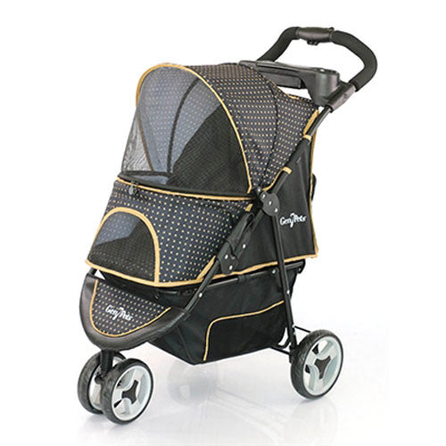 Gen7Pets Promenade Pet Dog 3-Wheel Stroller Gold Nugget