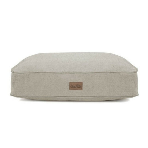 Harry Barker Tweed Rectangular Cushion Dog Bed — Grey