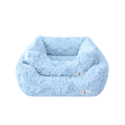 Hello Doggie Bella Plush Nesting Lounge Bed — Baby Blue