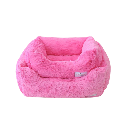 Hello Doggie Bella Plush Nesting Lounge Bed — Fuchsia