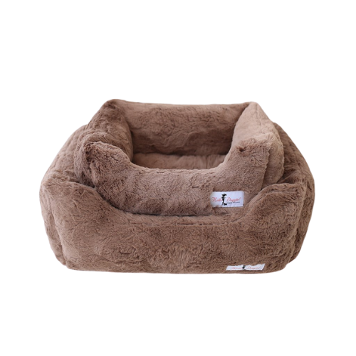 Hello Doggie Bella Plush Nesting Lounge Bed — Mocha