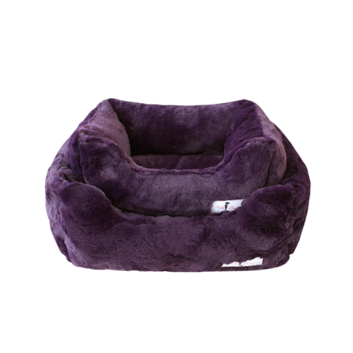 Hello Doggie Bella Plush Nesting Lounge Bed — Royal Purple
