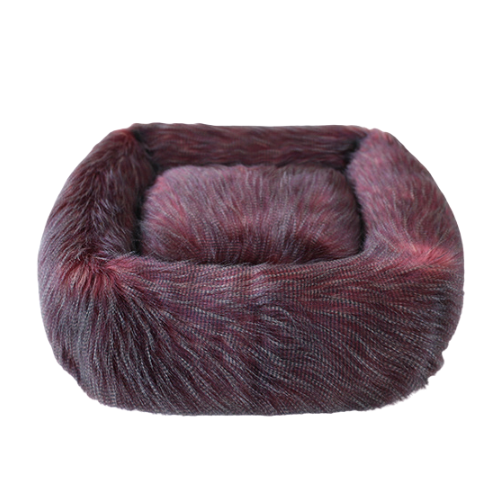 Hello Doggie Exotic Ostrich Faux Fur Nesting Dog Bed