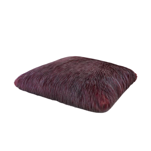 Hello Doggie Exotic Ostrich Faux Fur Dog Pillow Mat Bed
