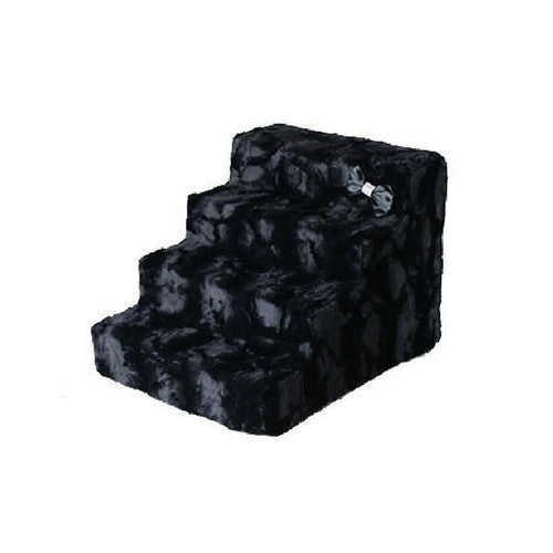 Hello Doggie Luxury Pet Stairs Foam Pet Steps — Black Diamond 4 Step