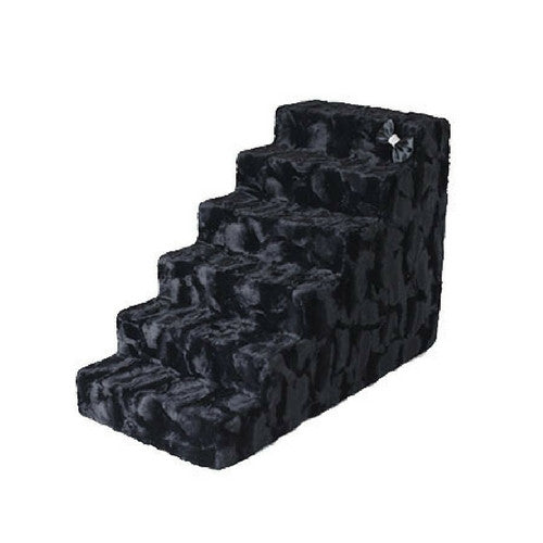 Hello Doggie Luxury Pet Stairs Foam Pet Steps — Black Diamond 6 Step