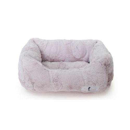 Hello Doggie Luxe Lounger Nesting Dog Bed Blush Small