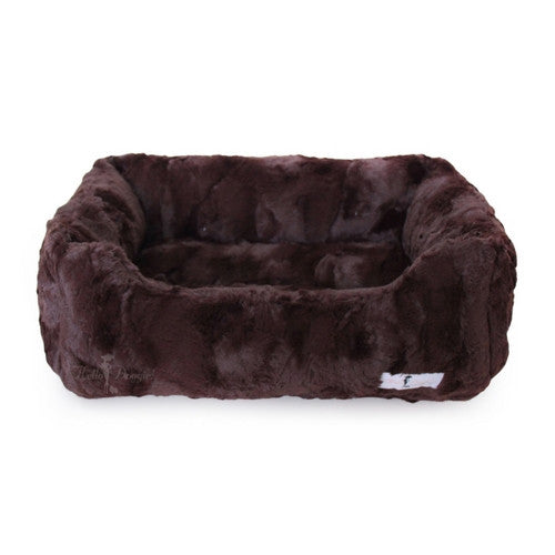 Hello Doggie Luxe Lounger Nesting Dog Bed Chocolate Large