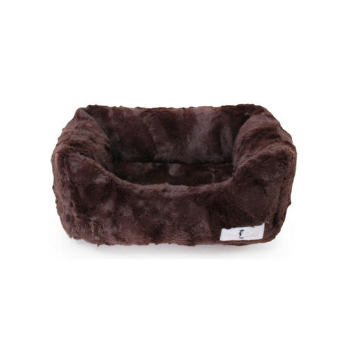 Hello Doggie Luxe Lounger Nesting Dog Bed Chocolate Small