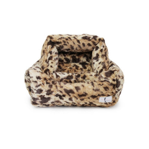 Hello Doggie Luxe Nesting Lounge Bed — Faux Fur King Leopard