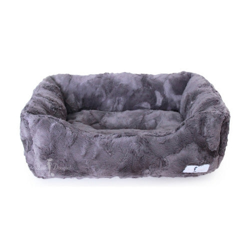 Hello Doggie Luxe Lounger Nesting Dog Bed Pewter Large