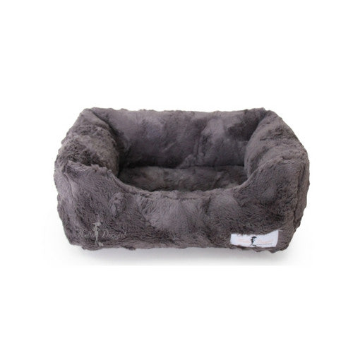 Hello Doggie Luxe Lounger Nesting Dog Bed Pewter Small