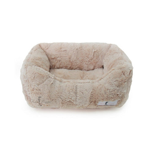 Hello Doggie Luxe Lounger Nesting Dog Bed Sand Small