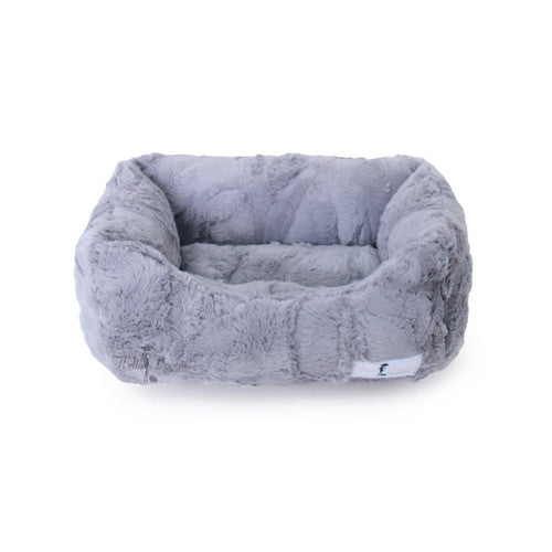 Hello Doggie Luxe Lounger Nesting Dog Bed Taupe Small
