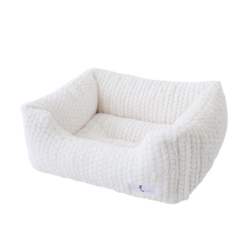 Hello Doggie Paris Lounger Nesting Dog Bed — Ivory