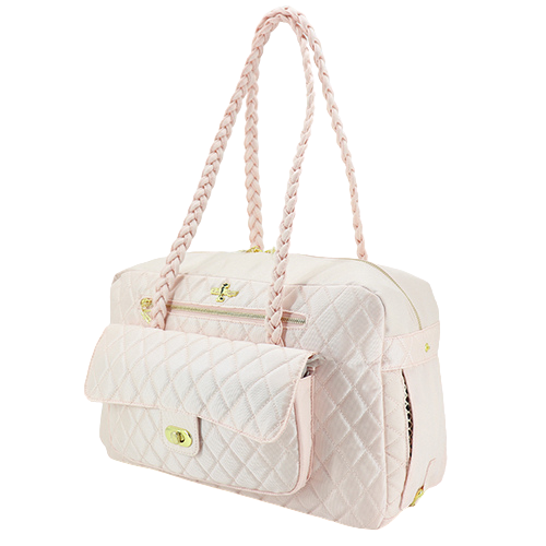 Hello Doggie Porsha Dog Travel Carrier — Blush