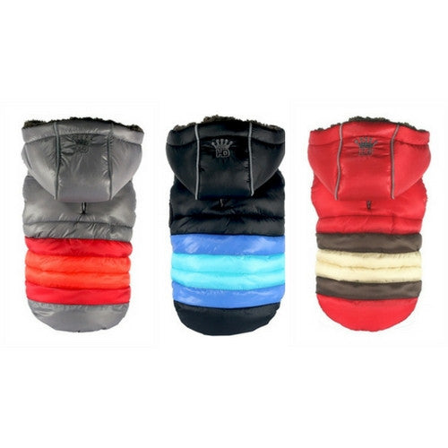 Hip Doggie Super Stripe Puffer Vest Winter Dog Coat All Colors