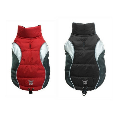 Hip Doggie Sporty Wave Reflective Puffer Vest Winter Dog Coat All Colors
