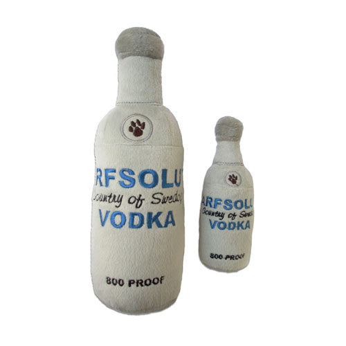 Haute Diggity Dog Arfsolut Vodka Bottle Designer Plush Dog Toy