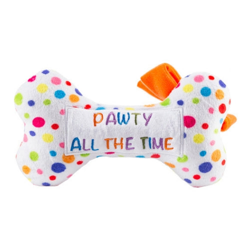 Haute Diggity Dog Pawty All Thge Time Happy Birthday Bone Toy Back View