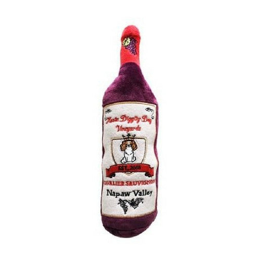 Haute Diggity Dog Cavalier Sauvignon Wine Bottle Designer Plush Dog Toy