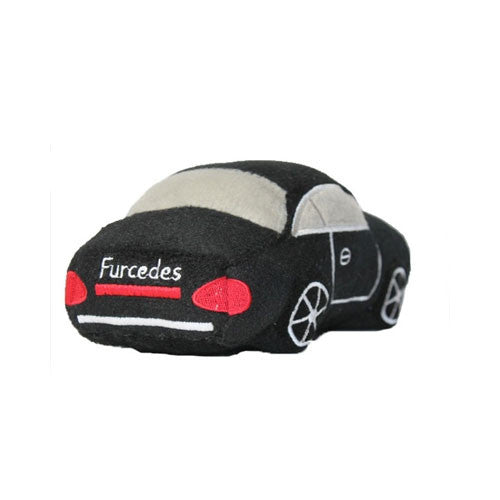Haute Diggity Dog Furcedes Car Designer Plush Dog Toy Back View