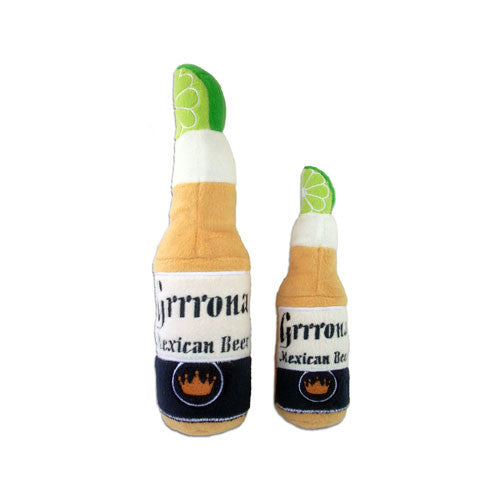 Haute Diggity Dog Grrona Beer Bottle Designer Plush Dog Toy