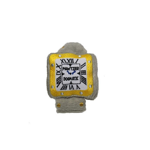 Haute Diggity Dog Pawtier Watch Designer Plush Dog Toy