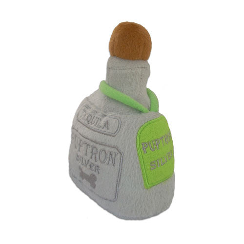 Haute Diggity Dog Puptron Tequila Bottle Designer Plush Dog Toy Side View