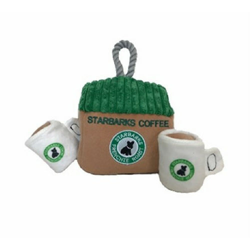 Haute Diggity Dog Starbarks Coffee House Interactive Plush Dog Toy
