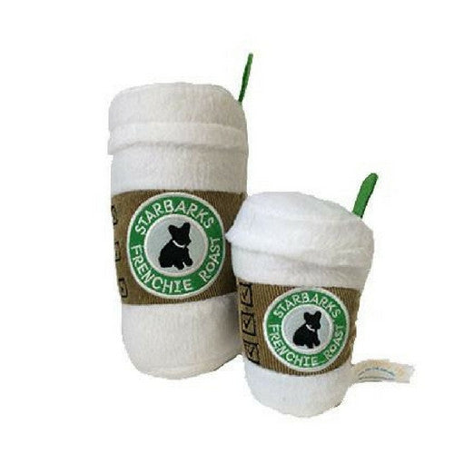 Haute Diggity Dog Frenchie Roast Starbarks with Lid Plush Dog Toys