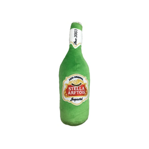 Haute Diggity Dog Stella Arftois Beer Bottle Plush Dog Toy