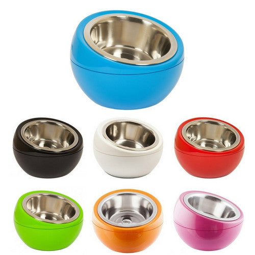 Hing Modern Dome Bowl Elevated Beveled Dog Feeder