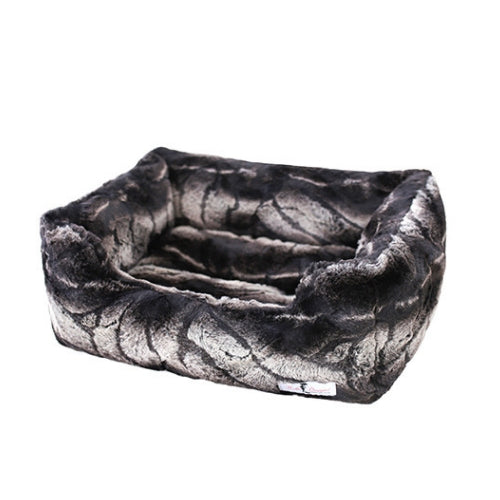 Hello Doggie Deluxe Nesting Lounge Bed — Faux Fur Chinchilla