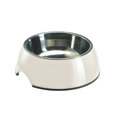 Hunter International Melamine Stainless Steel Dog Bowl White