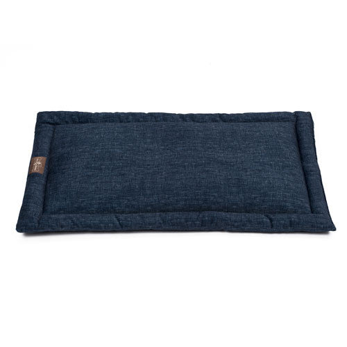 Jax and Bones Cozy Mat Plush Velour Crate Dog Bed Denim
