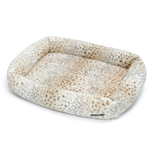 Jax & Bones Memory Foam Cuddler Dog Bed — Cheetah