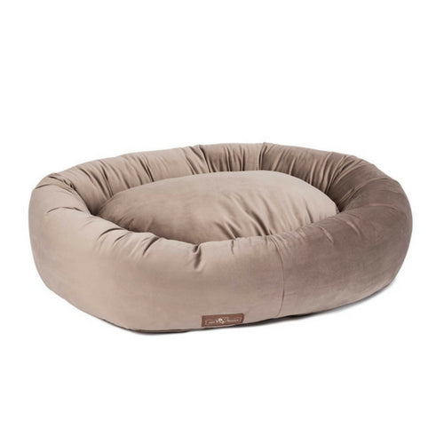 Jax & Bones Plush Velour Donut Nesting Dog Bed — Oak