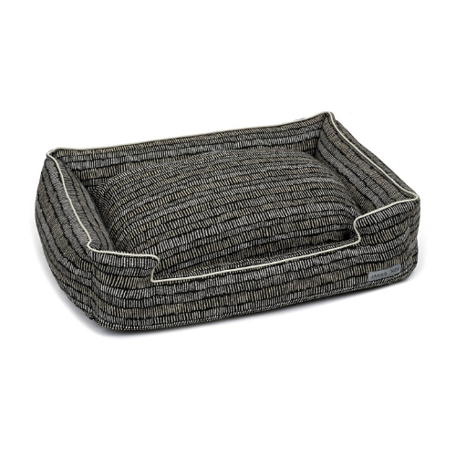 Jax & Bones Lounge Rectangular Nesting Dog Bed — Scribble Black