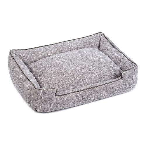 Jax & Bones Lounge Rectangular Nesting Dog Bed — Harper Gris