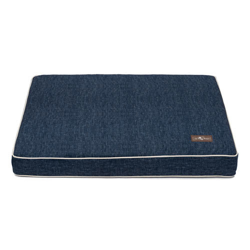 Jax and Bones Denim Plush Velour Memory Foam Rectangular Pillow Bed