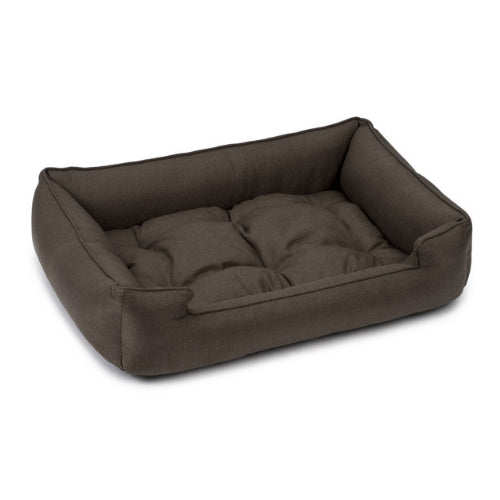 Jax & Bones Sleeper Bolstered Rectangluar Dog Bed — Helene Walnut