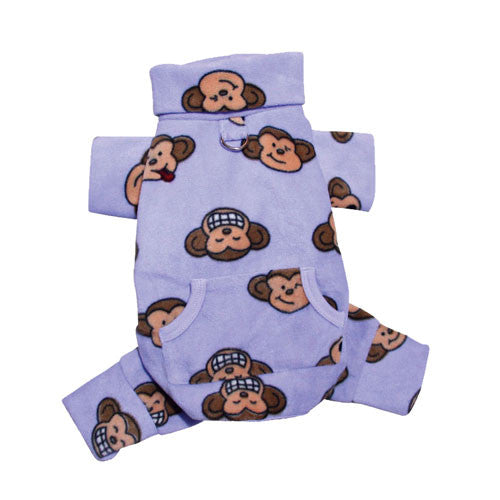 KLIPPO Silly Monkey Turtleneck Pajamas — Lavender