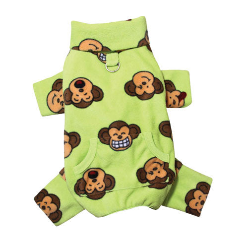 KLIPPO Silly Monkey Turtleneck Pajamas — Lime