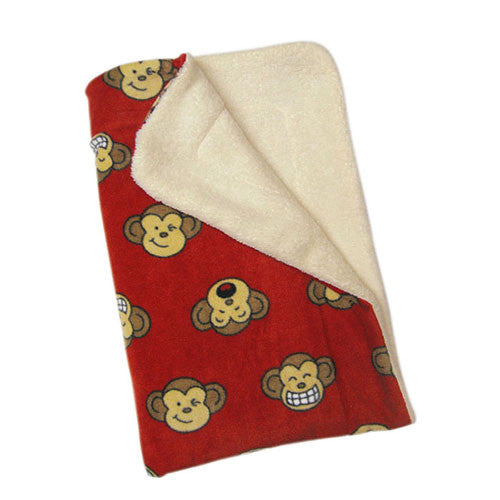 Klippo Pet Silly Monkey Fleece Dog Blanket Red