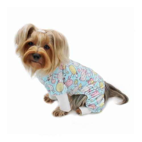 Klippo Pet Minky Stretch Four-Legged Dog Pajamas — Funny Sheep on Dog