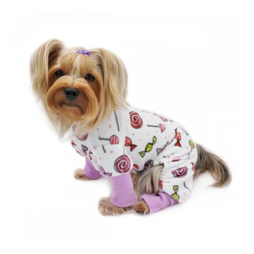 Klippo Pet Minky Stretch Four-Legged Dog Pajamas — Sweet Candies on Dog