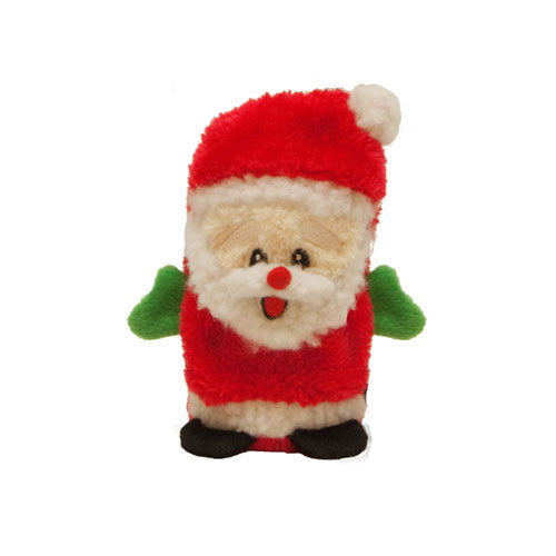 Kyjen Holiday Invincibles Santa Stuffing-Free Squeaker Dog Toy Mini
